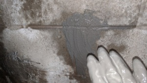 i patched holes in the basement wall with drylok hydraulic cement
