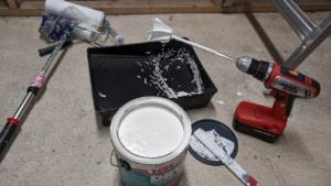 i used my drill bit mixer to stir the drylok waterproofing sealant