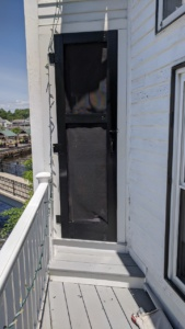 the screen door looks so much better after a new paint job