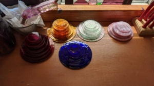 i sorted the new stained glass circles by size and color