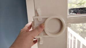 i used the deadbolt kit template to mark circles on the door