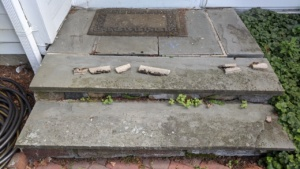i easily pulled most of the old mortar out of the slate back steps