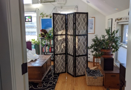 DIY Folding 3-Panel Screen for < $40