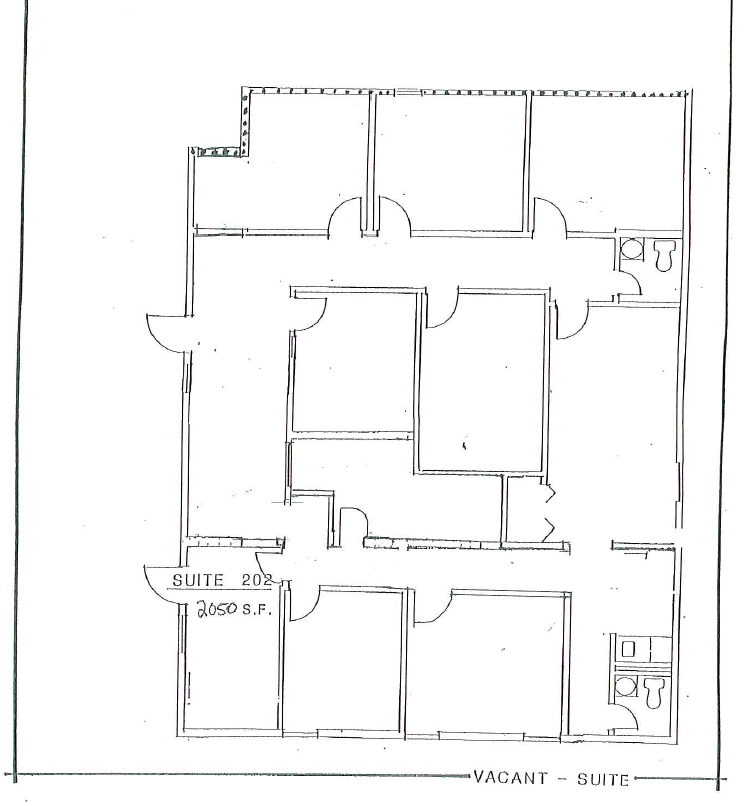 Second floor available space plan