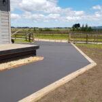 Black concrete Footpaths