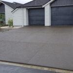 Exposed Concrete Driveway decorative Cuts