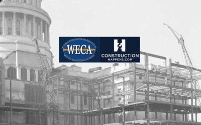 CONSTRUCTIONHAPPENS.COM announces partnership with WECA.