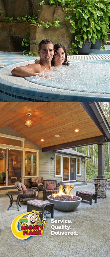 Outdoor living with Propane | Mighty Flame Propane Exchange