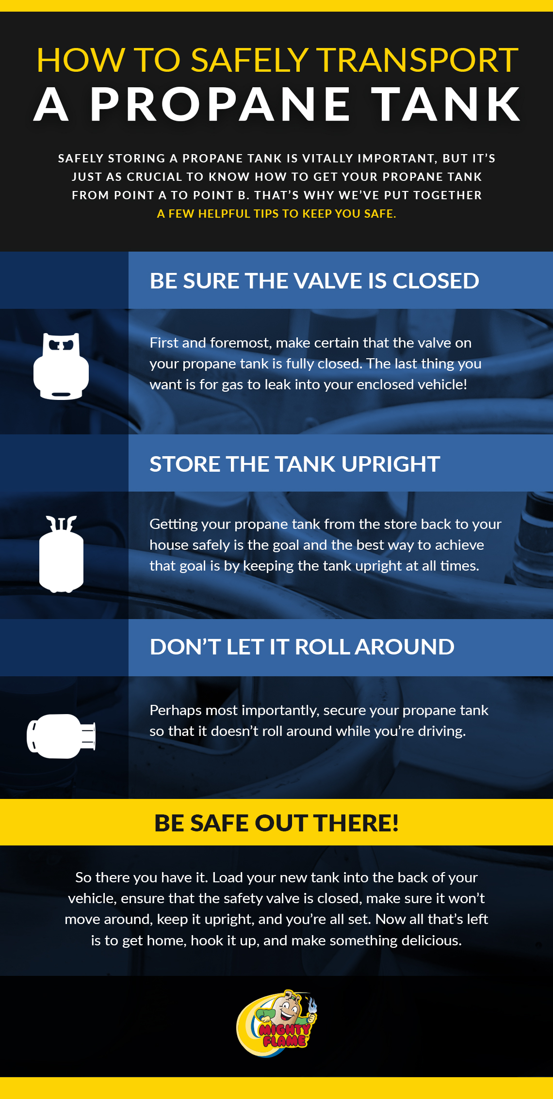 How To Safely Transport A Propane Tank