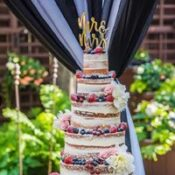 naked cake with fruit