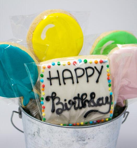 Happy Birthday Cookies Tin