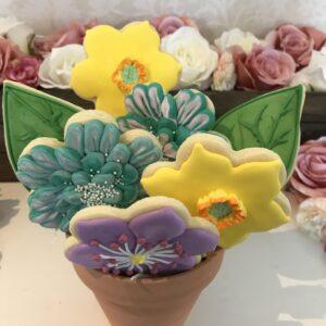 Flower Cookie Pot