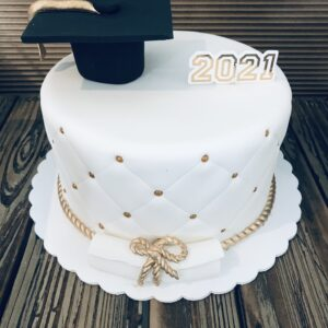 Quilted Grad Cake