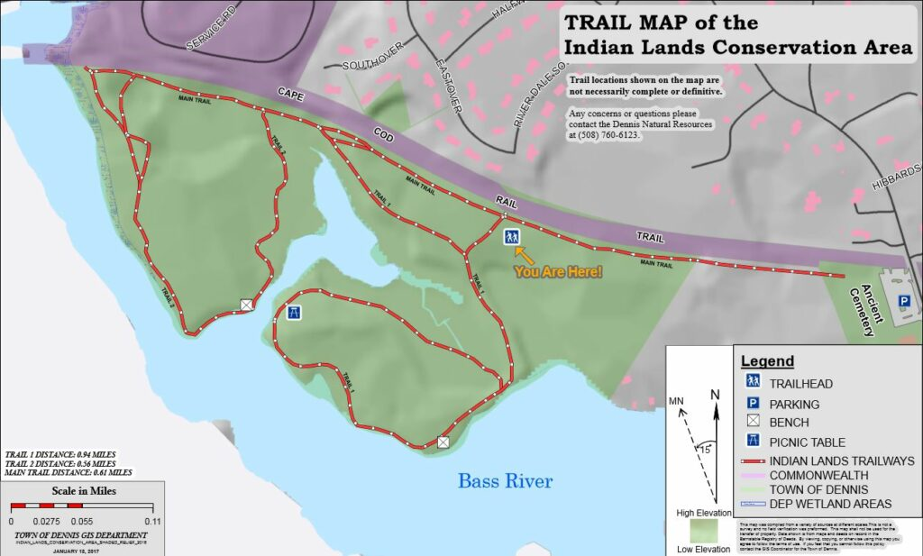 TRAIL MAP of the Indian Lands Conservation Area