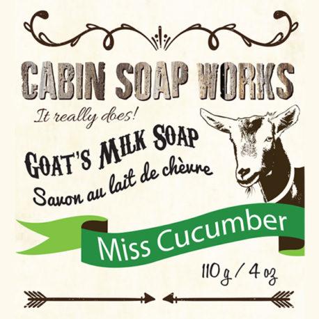 Miss Cucumber Goats Milk Soap