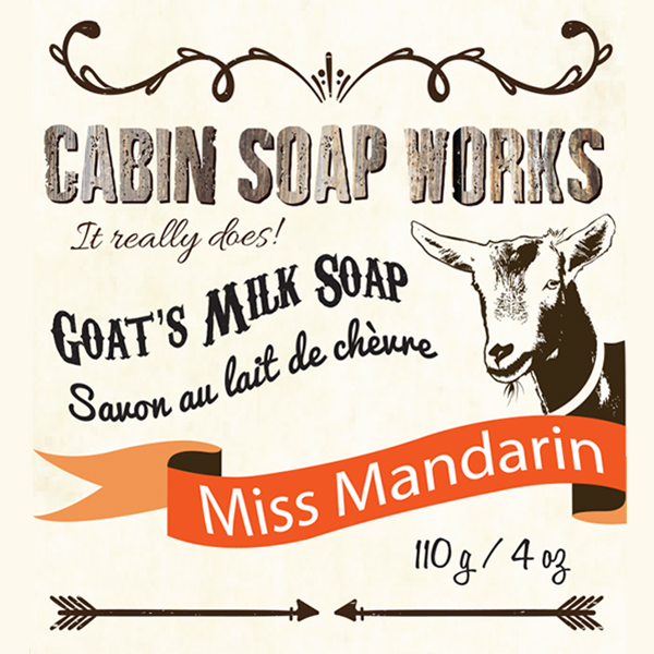Miss Mandarin Goats Milk Soap