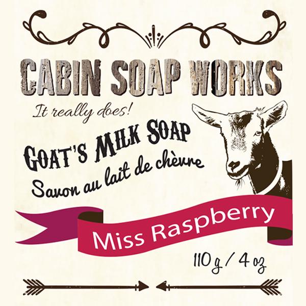 Miss Raspberry Goats Milk Soap
