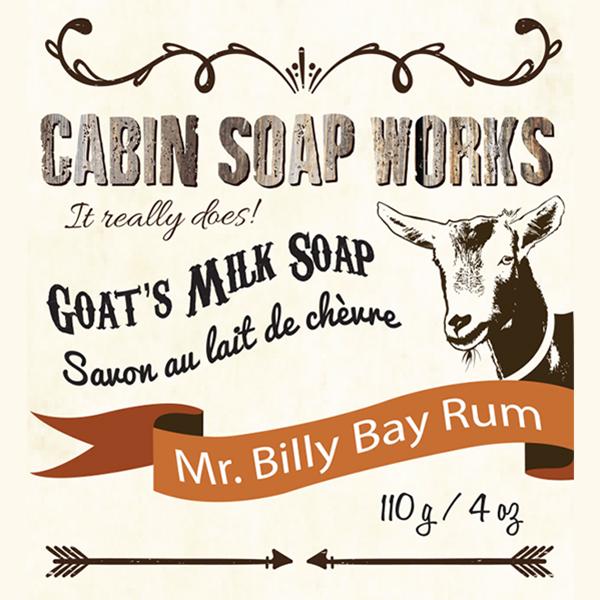 Mr. Billy Bay Rum Goats Milk Soap