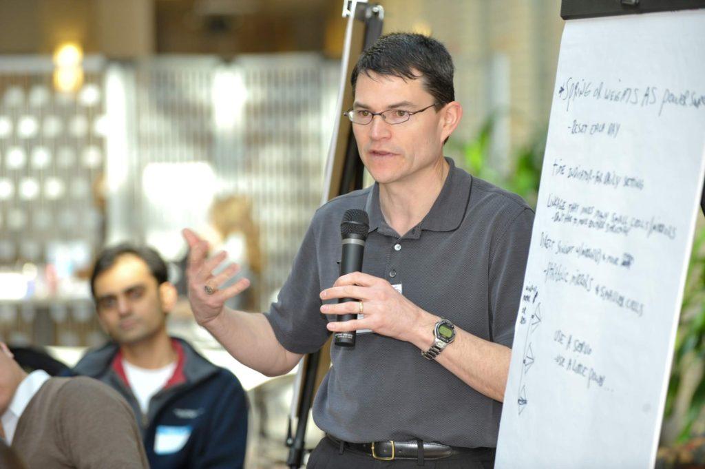 Evan presenting at Carnegie Mellon