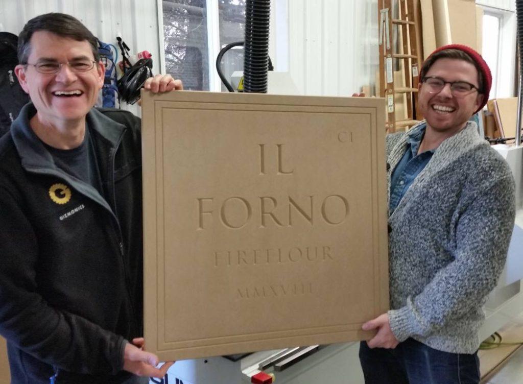 Fireflour, engraving, indoor sign bismarck sign