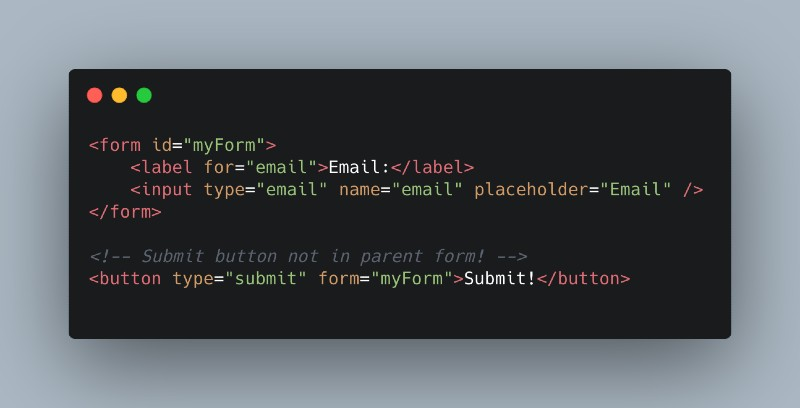 Yes, we can use a Submit Button Outside of a Form.