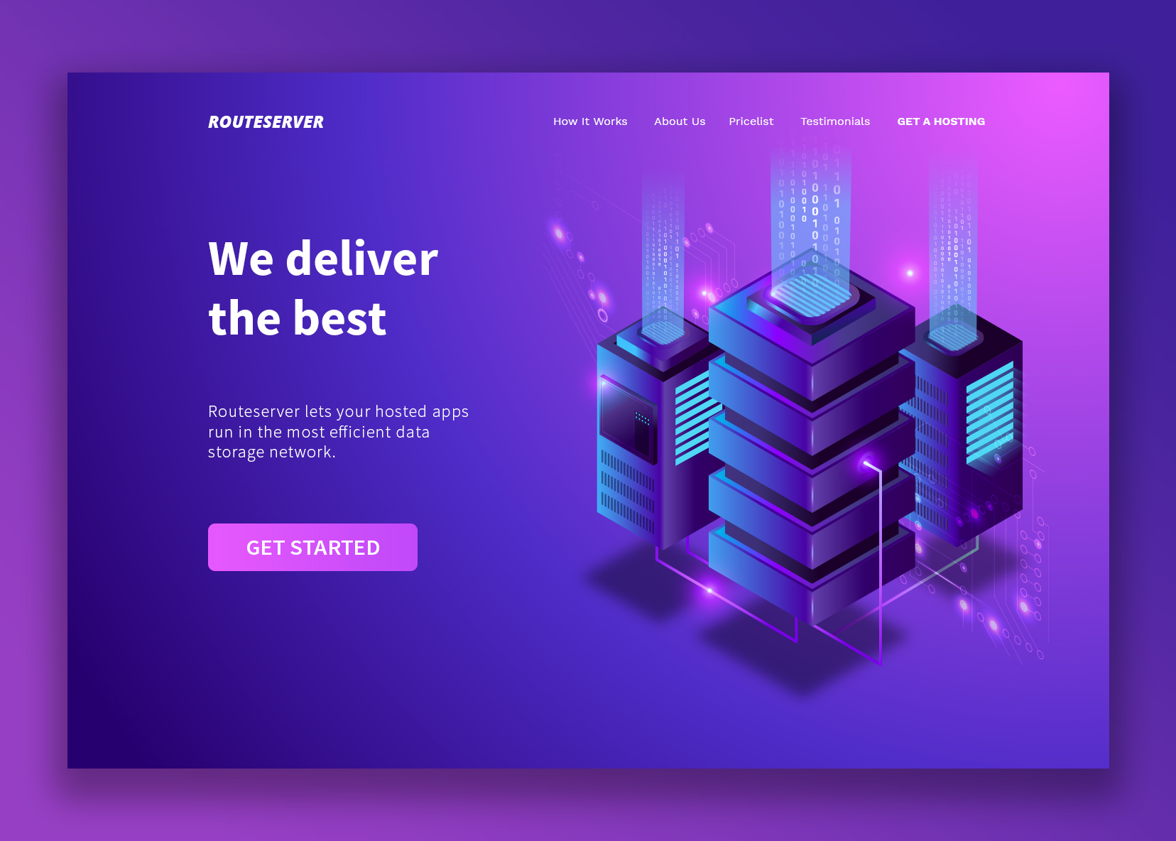 Routeserver Landing Page by Iric Midel