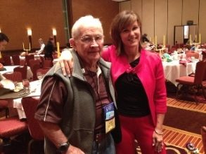 """One of the """"perks of my work"""" is meeting inspiring audience members like Scooter, a WW II Special Forces veteran, who attended the Texas Association of Realtors annual PAC convention."""