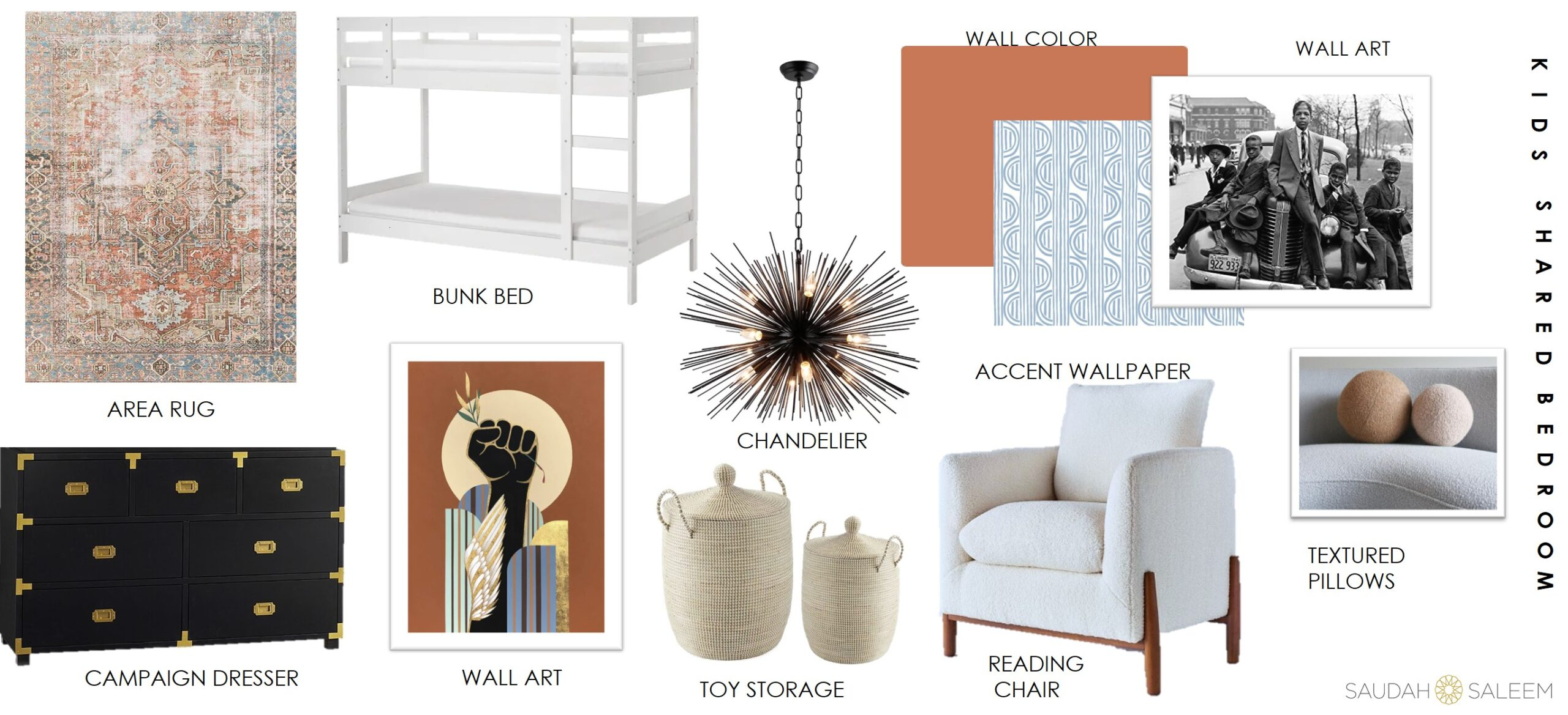 ONE ROOM CHALLENGE – WEEK 2| CREATING THE MOOD FOR A SHARED KIDS SPACE