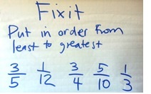 Fix It: An Activity for Ordering Fractions
