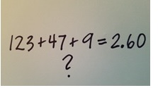 Teaching Adding Decimals: What If You Give the Answer First?