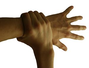 grasped hand
