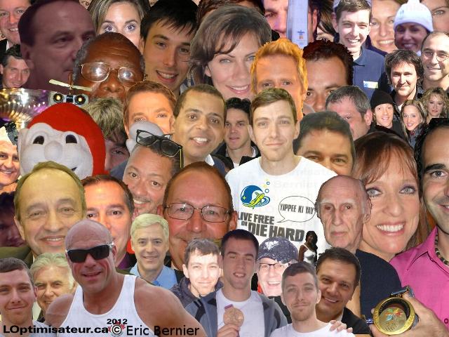 LOptimisateur avec des personnalités connues et de réussites.