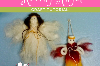DIY Sheep Crafts | How to Needle Felt a Roving Angel | Shepherd Like A Girl