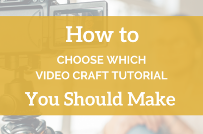 How To Choose Which Video Craft Tutorial You Should Make - Amika Ryan Shepherd Like A Girl