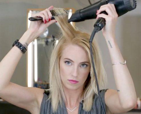 blow-drying-hair