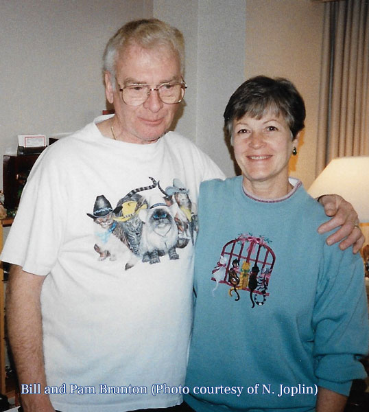 Bill and Pam in their room