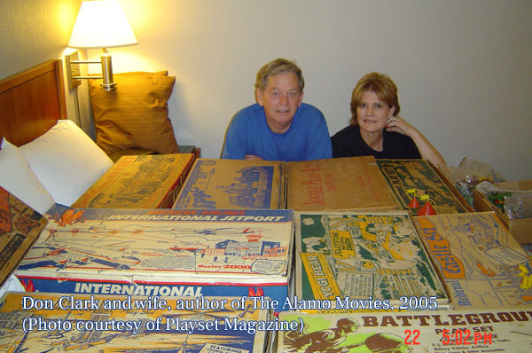 Don and wife, author of The Alamo Movies, in 2005