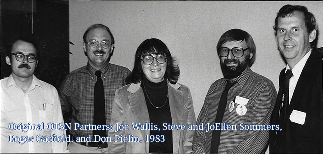 Original OTSN Partners: Joe, Steve, JoEllen, Roger, and Don, in 1983