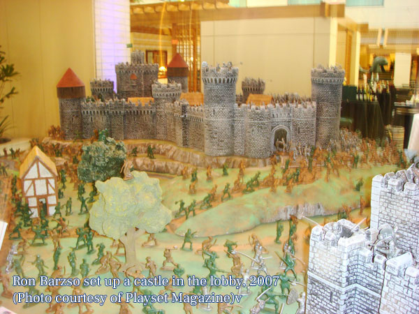 Ron Barzso set up a castle in the lobby, 2007