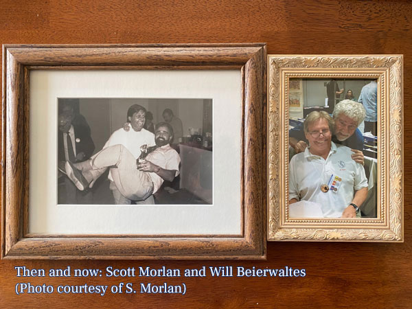 Photos of Scott and Will from 1987 and 2019