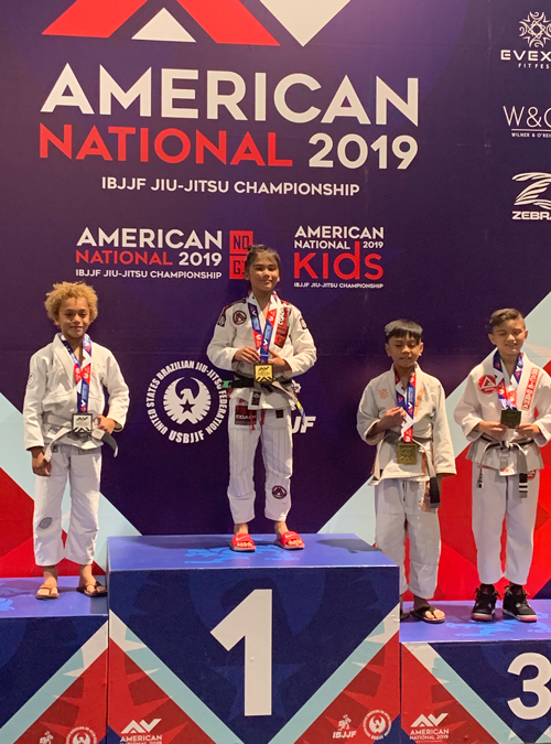 Braulio Corral on the podium at the IBJJF American National tournament