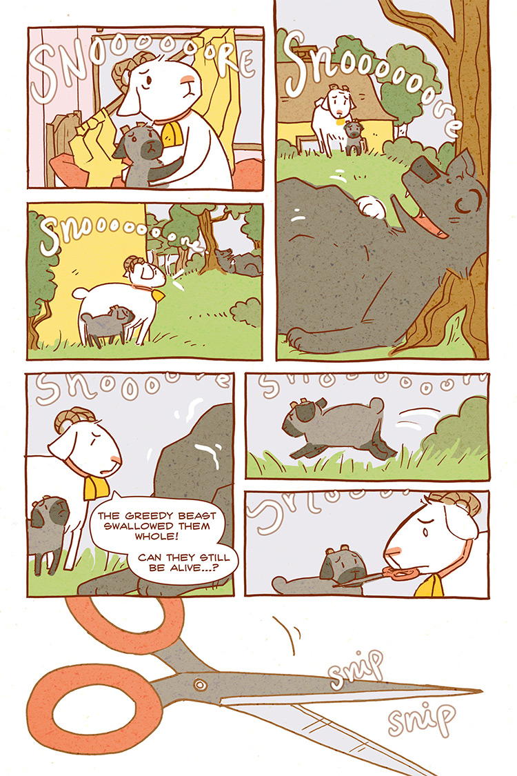 The Wolf and the Seven Kids pg09