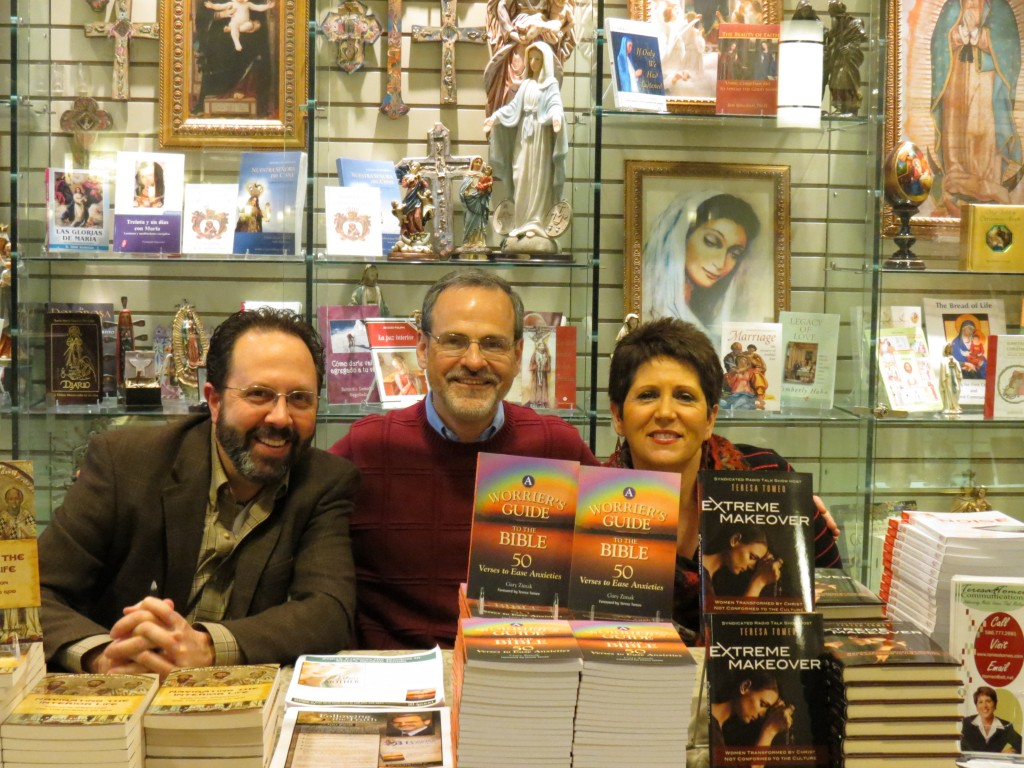 Catholic Speaker and Author Gary Zimak at a book signed at the Basilica of the National Shrine of the Immaculate Conception along with authors Teresa Tomeo and Dan Burke