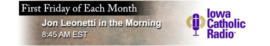 Catholic speaker and author Gary Zimak is a monthly guest on The Jon Leonetti Show on Iowa Catholic Radio