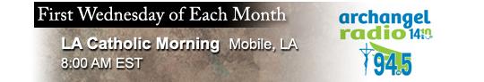 Catholic speaker and author Gary Zimak is a monthly guest on LA Catholic Morning on Archangel Radio