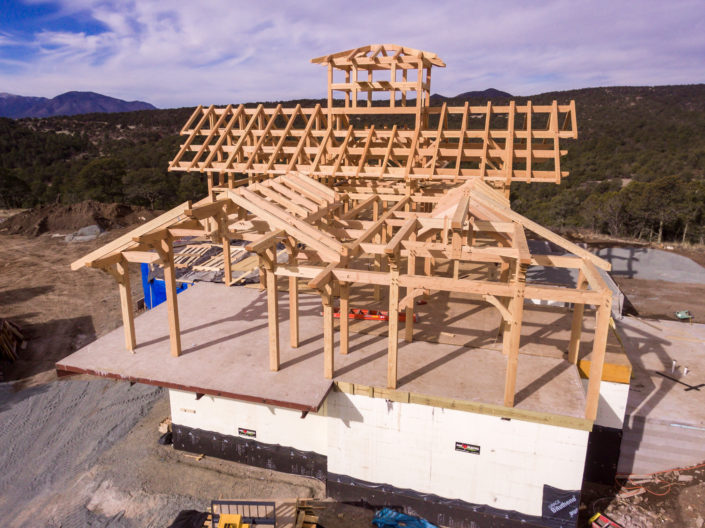 Timberframe Construction New Mexico Aerial View