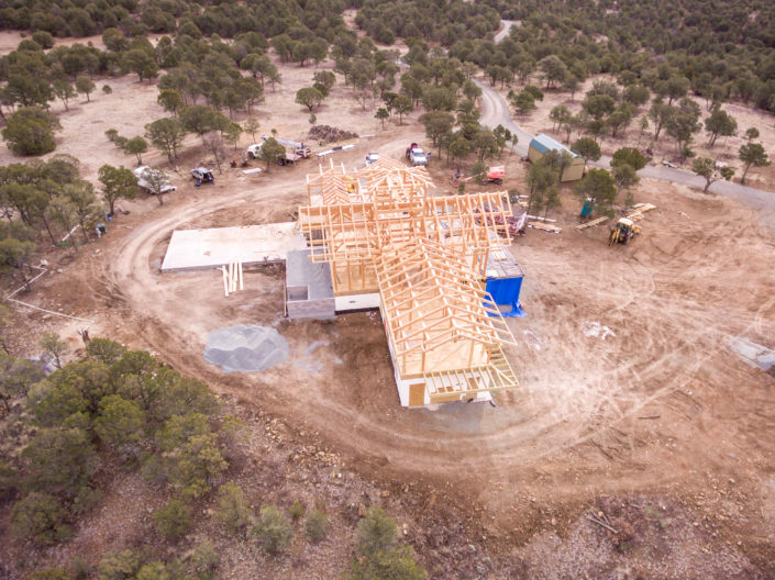 Timberframe Construction New Mexico Aerial