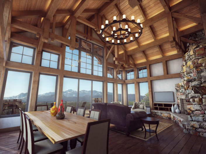 Timberframe Rendering New Mexico Great Rooms