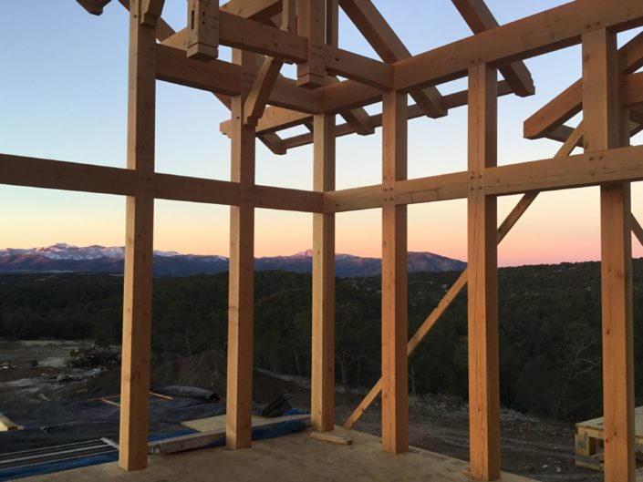 Timberframe Construction New Mexico Sunrise