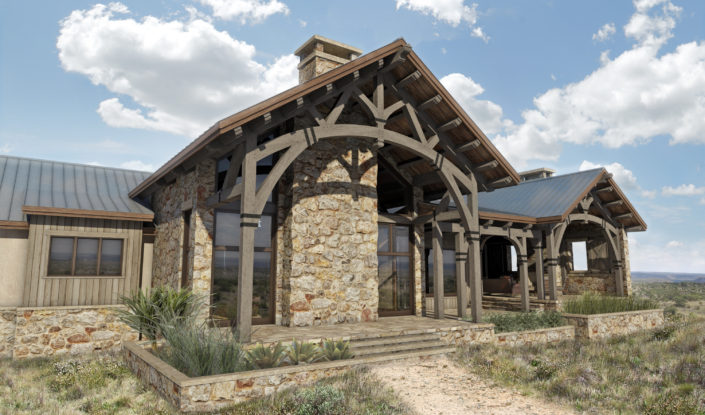 Timberframe Rendering Custom Ranch Designs Texas